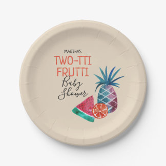 Two-tti Frutti Baby Shower Paper Plate
