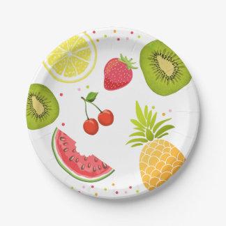 Two-tti frutti Birthday Paper Plates Tutti fruity