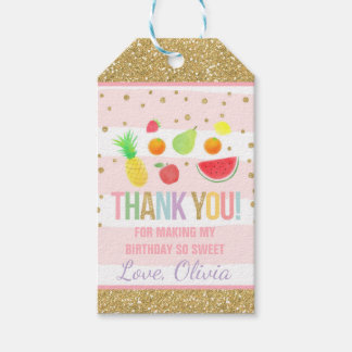 Two-tti Frutti Party Favor Thank You Fruit Party Gift Tags
