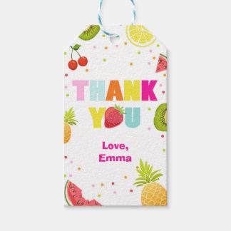 Two-tti Frutti thank you favor gift tags Fruity