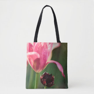 Two Tulip Flowers Tote Bag