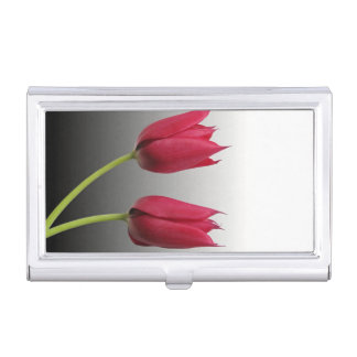 two tulips business card holder