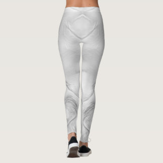 Two Tulips Flower Abstract in Gray Leggings