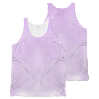 Two Tulips Flower Abstract in Lavender All-Over Print Singlet