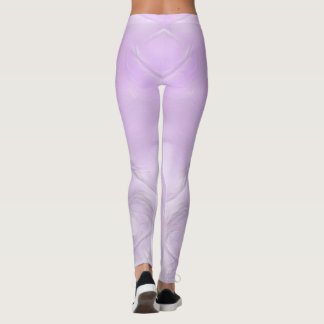 Two Tulips Flower Abstract in Lavender Leggings