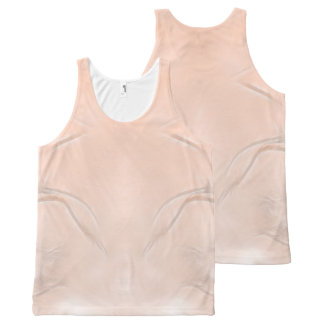 Two Tulips Flower Abstract in Peach All-Over Print Singlet