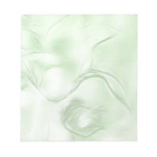 Two Tulips Flower Sketch in Green Notepad