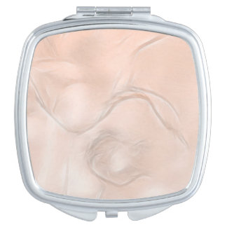Two Tulips Flower Sketch in Peach Mirrors For Makeup