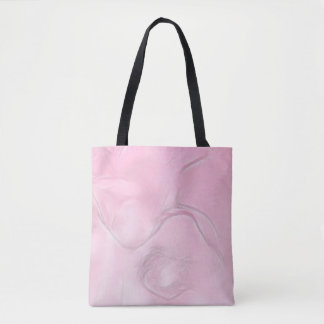 Two Tulips Flower Sketch in Pink Tote Bag