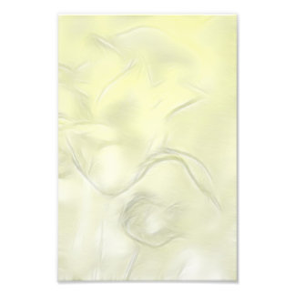 Two Tulips Flower Sketch in Yellow Photo Print