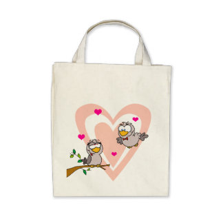 Two Turtle Doves Canvas Bag