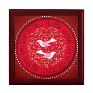 Two turtle doves large square gift box