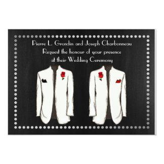 Two Tuxedo Gay Wedding Invitation