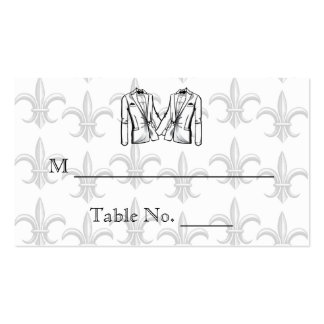 Two Tuxedo Groom Gay Wedding Place Cards Business Cards