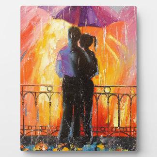Two under an umbrella plaque