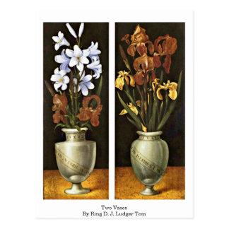 Two Vases By Ring D. J. Ludger Tom Postcard