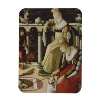 Two Venetian Ladies (panel) Magnet