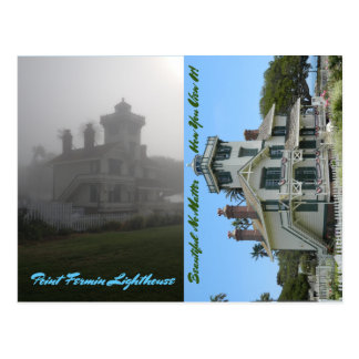 Two View PC Point Fermin Lighthouse San Pedro CA Postcard