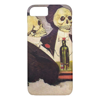 Two Vintage Skeletons iPhone 7 Case