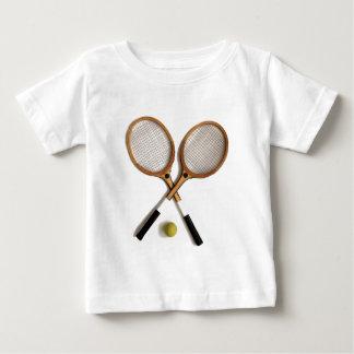 two vintage tennis rackets , sports , ballgames, baby T-Shirt