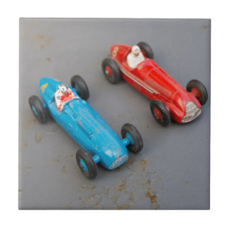 Two vintage toy cars ceramic tile