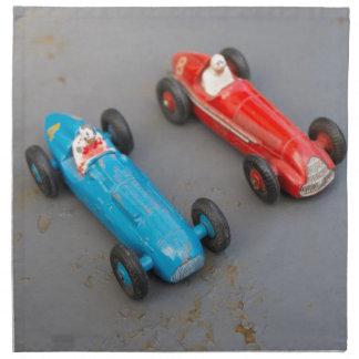 Two vintage toy cars napkin