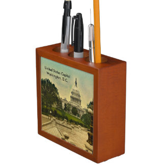 Two Vintage United States Capitol Images 1871-1898 Desk Organiser