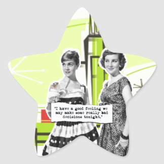 Two Vintage Women with Modern Day Intentions Star Sticker