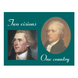 Two visions postcard
