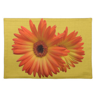 Two Vivid Orange and Yellow Gerbera Daisies Placemat