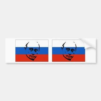 TWO Vladimir Putin/Russian Flag Bumper Sticker
