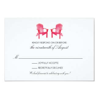 Two Watercolor Adirondack Chairs RSVP Card