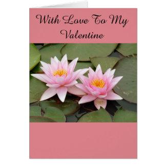 Two Waterlilies Valentine card