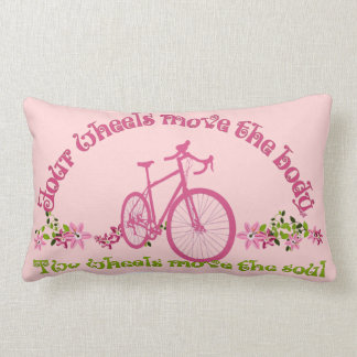 Two wheels move the soul lumbar pillow