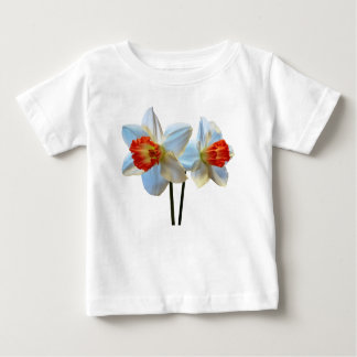 Two White And Orange Daffodils Baby T-Shirt