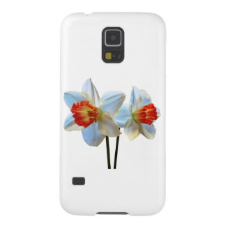 Two White And Orange Daffodils Galaxy S5 Covers