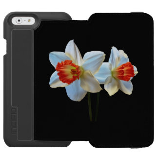 Two White And Orange Daffodils Incipio Watson™ iPhone 6 Wallet Case