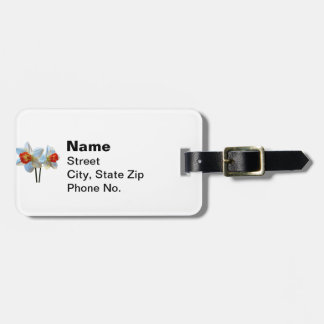 Two White And Orange Daffodils Luggage Tag