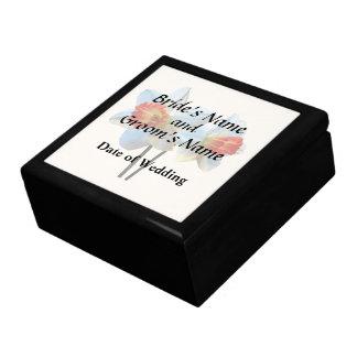 Two White And Orange Daffodils Wedding Supplies Gift Box