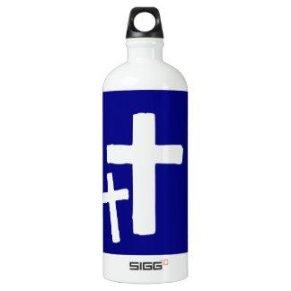 Two White Cross Symbols On Blue SIGG Traveller 1.0L Water Bottle