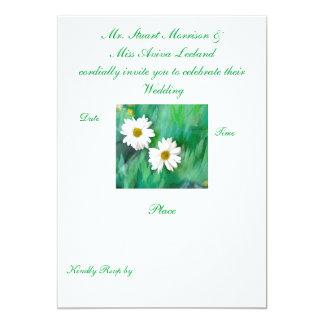 "Two White Daisies Invitation 5"" X 7"" Invitation Card"