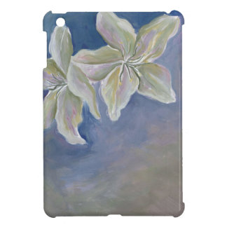two white lilies i-pad mini case cover for the iPad mini