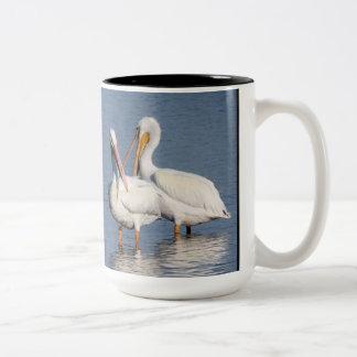 Two White Pelicans Mug