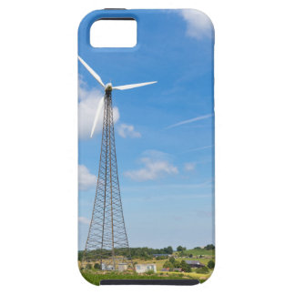 Two windmills in rural area with blue sky iPhone 5 covers