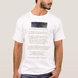 TWO WOLVES CHEROKEE TALE Destroyed Shirt