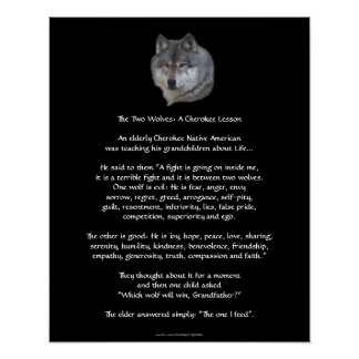 TWO WOLVES CHEROKEE TALE  Poster