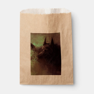 two wolves - painting wolf favour bag