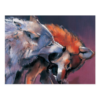 Two Wolves Postcard