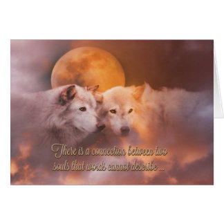 Two Wolves Valentine's Day Soul Mate Card