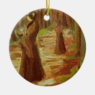 Two Women by Vincent van Gogh Christmas Tree Ornaments